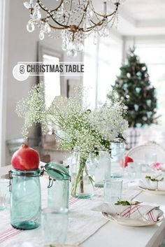 Christmas table settings | We Heart Home www.MadamPaloozaEmporium.com www.facebook.com/MadamPalooza