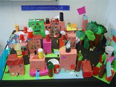 De wijk - Productietaak - soort project over de wijk - Meestertim. School Projects, Projects To Try, Art Lessons, Gift Wrapping, Construction, City, Inspiration, Cities, Games