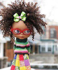 Natural kinky hair doll. tooo cute!