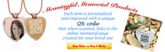 www.tributecode.com Meaningful Memorial Products.  Tribute Code offers healing after loss though innovative products and services. Honor and Remember your departed loved ones FOREVER.