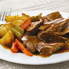 Slow Cookers Savory Pot Roast: Savory aromas entice you as this easy meal-in-one gently simmers in the slow cooker. Choose a boneless chuck roast for the richest taste or a rump roast if you prefer lower fat.