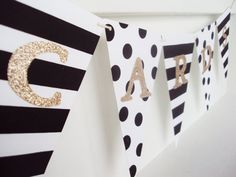 Customizable Stripes and PolkaDots Banner 10.00  by KardstockKate, $10.00  But in fall colors