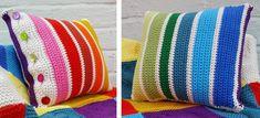 Oddments Crocheted Cushion [FREE Crochet Pattern]