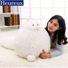 Heureux cat cushion lovely emoji pillow cojin gift for girl emoji decorativos almofadas kussens  #Affiliate