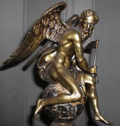 Antike Bronze Figur des XIX Jh. «Cronus» Vater der Zeit