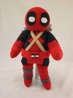 Custom order Deadpool plush by Handmade Stuffs