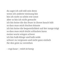 Original by Rupi Kaur. Inofficially translated into German by Carina Riethmüller. Deutsche Version.