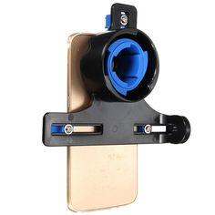 Telescopio de Microscopio Soporte universal de soporte para soporte de adaptador para teléfono