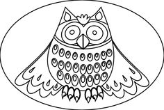 Cute Owl Black White Line Art Scalable Vector Graphics SVG Inkscape Adobe Illustrator Clip Art Clipart Coloring Book Colouring 555px.png