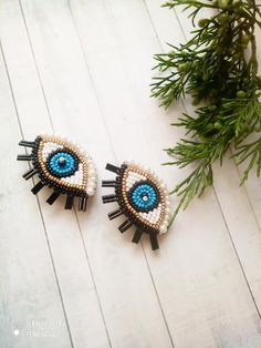 Evil eye earrings Beaded earrings Blue Eye Clips Trendy Earrings Fashion Jewelry Fashionable pearl eyes for your bright look Length inches ( cm ) Evil Eye Earrings, Beaded Earrings, Beaded Jewelry, Brooches Handmade, Earrings Handmade, Handmade Jewelry, Fashion Earrings, Fashion Jewelry, Bead Embroidery Jewelry