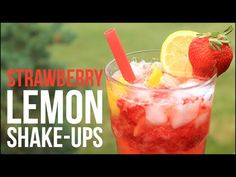 Strawberry Lemon Shake-Ups!! Homemade Strawberry Lemonade Recipe - YouTube