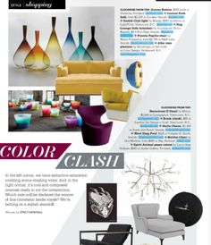 We love seeing #marset's Scotch Club #light in the Color Issue of @GRAY Magazine!