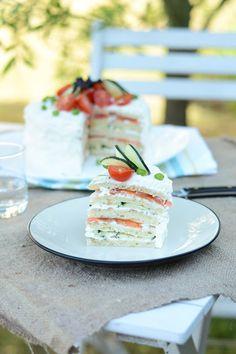Sandwich cake: smörgåstårta suédois