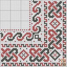 Dažādi raksti rūtiņu tehnikā - Rokdarbu grāmatas un dažādas shēmas Celtic Cross Stitch, Cute Cross Stitch, Cross Stitch Borders, Cross Stitch Designs, Cross Stitching, Cross Stitch Embroidery, Loom Patterns, Embroidery Patterns, Cross Stitch Patterns