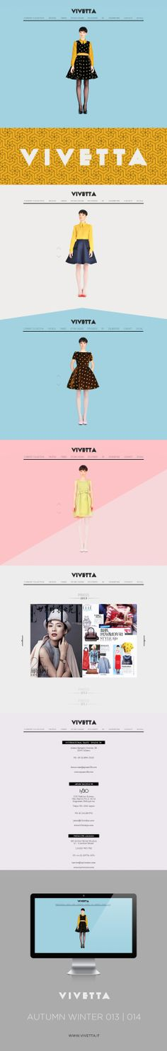 VIVETTA / Web Design 2013 DESIGN BY HOUKART http://www.houkart.com #Design…