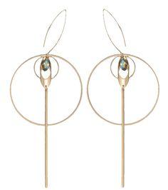 Boucles d'oreille plaqué or, La Fiancée du Facteur