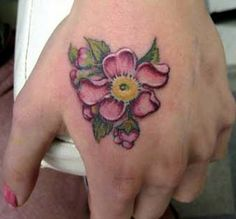 flower tattoo - love the small size!