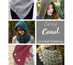 Cowl Crochet Patterns – Cozy Gifts - A More Crafty Life Crochet Cowl Free Pattern, Crochet Patterns, Crochet Baby, Crochet Gifts, Cozy, Crafty, Knitting, Handmade Gifts, Life