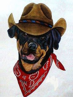 Painting & Co Search And Rescue Dogs, Rottweiler, Livestock, Cowboy Hats, Painting, Painting Art, Rottweilers, Paintings, Painted Canvas