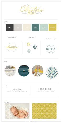 [ color palette + sub-mark + icon + brilliant ] Christina Dooley Photography Logo and Brand Design - Saffron Avenue : Saffron Avenue Corporate Design, Brand Identity Design, Graphic Design Branding, Stationery Design, Brand Design, Identity Branding, Corporate Identity, Brochure Design, Visual Identity