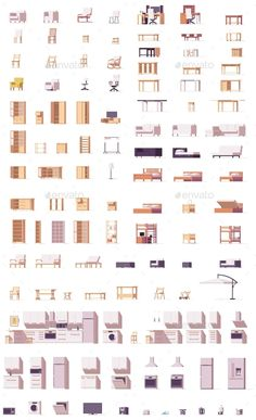 Buy Vector Low Poly Furniture Set by on GraphicRiver. Includes chairs, sofas, cabinets, patio and kitchen furniture Collage Architecture, Architecture Graphics, Architecture Visualization, Architecture Drawings, Concept Architecture, Architecture Design, Luxury Furniture Brands, Furniture Sets, Furniture Design