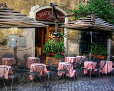 sidewalk cafe in Rome, Italy