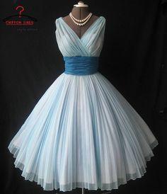Tulle Prom dress Sleeveless bridesmaid dress blue chiffon party dress evening dress cocktail dress /pageant dress ,bridesmaid for wedding