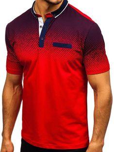 Gradient Tone Shirt Collar T Shirts Polo Shirt Brands, Camisa Polo, Casual T Shirts, Casual Wear, Casual Outfits, Quality T Shirts, Denim Fashion, Curvy Fashion, Fashion Tips