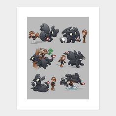 How Not to Train Your Dragon - Art Print