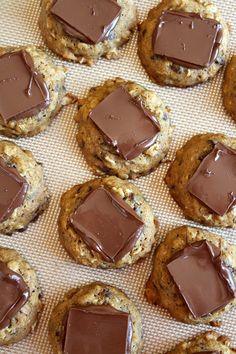 Pumpkin- Oatmeal Candy Bar Cookies