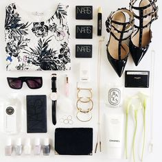#flatlay #flatlays #fashion #style #shoes #accessories #makeup