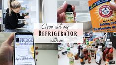 I'm starting my spring cleaning by going through my whole fridge. Plus I found a fridge deodorizing hack that actually works really well. My Refrigerator, My Spring, Spring Cleaning, Deodorant, Cleaning Hacks, How To Get, Pure Products, Tips, Advice