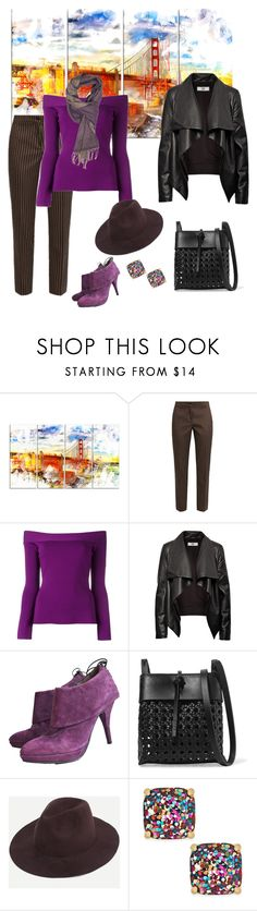 """San Francisco Weekend🌉"" by parnett ❤ liked on Polyvore featuring Design Art, Etro, Roland Mouret, HIDE, Latitude Femme, Kara, Kate Spade and Fendi"