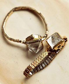 Unearthen Crystal Quartz Pyramid Watch