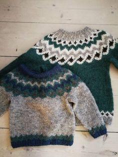 Icelandic Sweaters, Fair Isle Knitting, Sweater Outfits, Handicraft, Children, Kids, Pullover, Wool, Barn