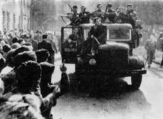Hungarian Revolution Of 1956. The Hungarian Revolution of 1956 or Hungarian Uprising of 1956[5] (Hungarian: 1956-os forradalom or felkelés) was a spontaneous nationwide revolt against the government of the People's Republic of Hungary and its Soviet-imposed policies, lasting from 23 October until 10 November 1956. Despite the failure of the uprising, it was highly influential, and came to play a role in the downfall of the Soviet Union decades later.