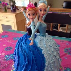 Frozen (Disney) Birthday Party Ideas Frozen Birthday Party Ideas Pinterest Anna cake Elsa