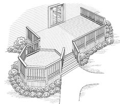 Eplans+Deck+Plan+-+Octagonal+Alcove+Extends+Space+from+Eplans+-+House+Plan+Code+HWEPL74930