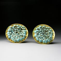 Jacqueline Ryan: Earrings with overlapping lentil-shaped forms