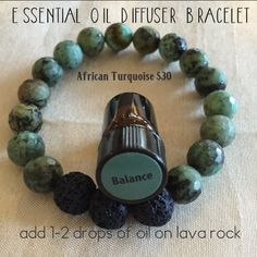 Essential Oil Diffuser Bracelet: African Turquoise