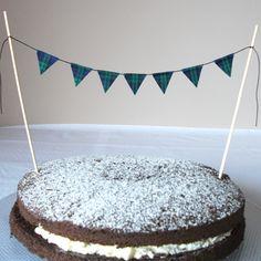 Black Watch Tartan Cake Topper Bunting