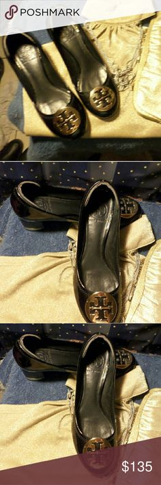 Tory Burch shoes Like New Tory Burch black patent leather shoes. Not even wear creases noted. I gave them a good coating of mink oil to waterproof and they are all set for a new owner. Tory Burch Shoes