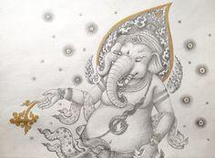 พระพิฆเณศประทานพร Lord Kanesha grants a wish-Thai art