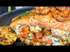 The best stuffed salmon! Fish Recipes video recipe – The Most Practical and Easy Recipes Baked Salmon Recipes, Fish Recipes, Seafood Recipes, Dinner Recipes, Cooking Recipes, Healthy Recipes, Salmon Recipes Stove Top, Keto Recipes, Salmon Dishes