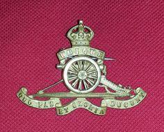 Royal Artillery Officers Gilt KC cap badge