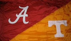 Alabama & Tennessee House Divided Hand Sewn Flag. $64.99