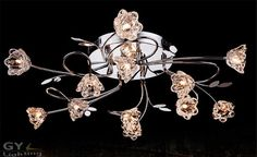 AC220-240V modern crystal chandelier lutres flowers pattern lampshade G4 LED ceiling living room bedroom Kitchen home Lighting