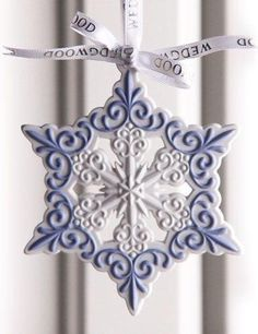 Wedgewood Christmas Ornament - Blue and White