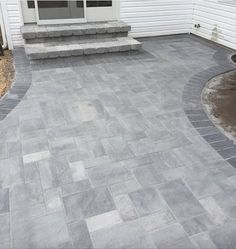 This beautiful Long Island backyard was created by Randazzo's Landscaping using .This beautiful Long Island backyard was created by Randazzo's Landscaping using .This beautiful Long Island backyard was . Back Patio, Backyard Patio, Backyard Landscaping, Front Walkway Landscaping, Backyard Barbeque, Paver Walkway, Patio With Pavers, Outdoor Pavers, Outdoor Steps