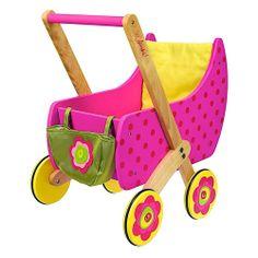 Dushi Stroller For Toddlers Colorful Wood Pram For Dolls